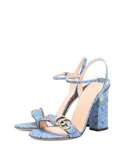 Gucci | Кожаные Босоножки Marmont М Цветочным Принтом