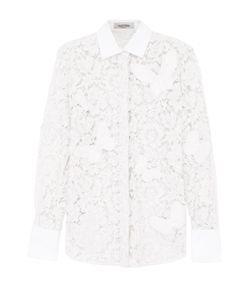 Valentino   Кружевная Приталенная Блуза