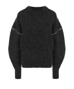 MM6 by Maison Margiela   Вязаный Пуловер С Круглым Вырезом И Объемными Рукавами