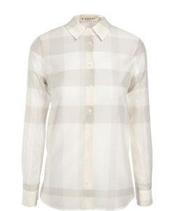 Burberry | Хлопковая Блуза Прямого Кроя В Клетку