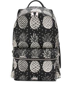 Dolce & Gabbana | Текстильный Рюкзак Vulcano С Принтом И Отделкой Из Натуральной Кожи Dolce