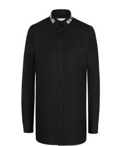 Givenchy | Хлопковая Блуза Прямого Кроя С Декорированным Воротником