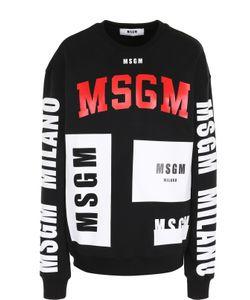 MSGM | Хлопковый Свитшот Прямого Кроя С Надписями