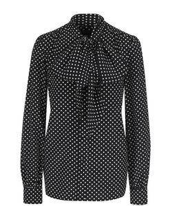 Marc Jacobs | Шелковая Блуза В Горох С Воротником Аскот