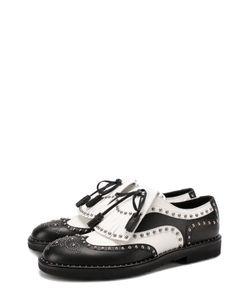 Dolce & Gabbana | Кожаные Туфли Milano С Бахромой И Заклепками