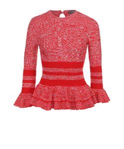 Alexander McQueen | Пуловер С Баской И Укороченными Расклешенными Рукавами