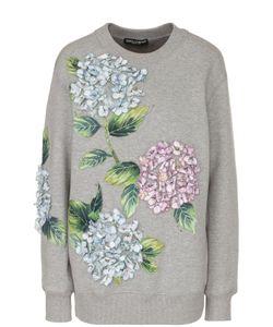 Dolce & Gabbana | Свитшот Свободного Кроя С Цветочной Отделкой
