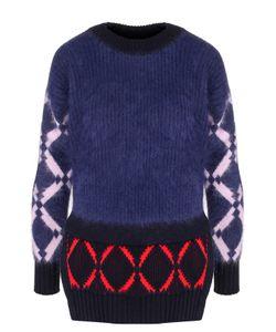 Versace   Пуловер С Круглым Вырезом И Разрезами На Рукавах