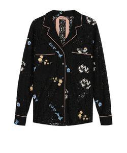 No. 21 | Кружевная Блуза В Пижамном Стиле В Вышивкой