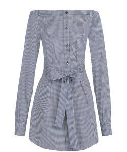 Michael Kors | Удлиненная Блуза С Поясом И Открытыми Плечами