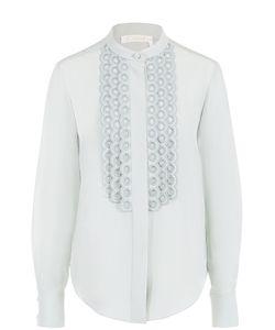 Chloe | Шелковая Блуза С Кружевной Отделкой