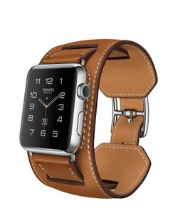 Apple | Watch 42mm Stainless Steel Case Hermes Cuff Leather Band