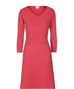 Armani Collezioni | Приталенное Платье С V-Образным Вырезом