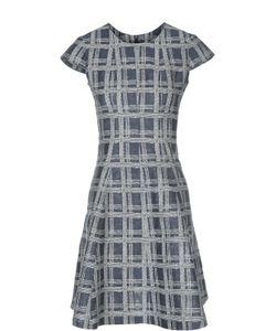 Armani Collezioni | Льняное Расклешенное Платье В Клетку