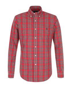 Polo Ralph Lauren   Хлопковая Рубашка В Клетку С Воротником Button Down