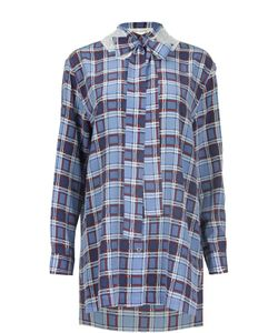 Marc Jacobs | Удлиненная Блуза С Клетку С Бантом И Пайетками