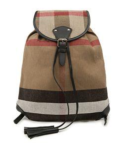 Burberry | Текстильный Рюкзак С Кожаной Отделкой Chiltern