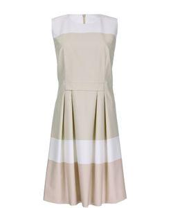 BOSS | Приталенное Платье Без Рукавов С Защипами