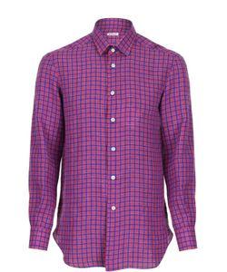 Kiton | Льняная Рубашка В Клетку