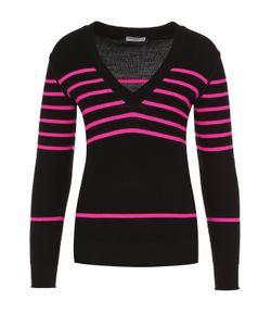 Sonia Rykiel | Шерстяной Пуловер В Контрастную Полоску С V-Образным Вырезом