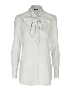Kiton | Шелковая Блуза В Горошек С Бантом