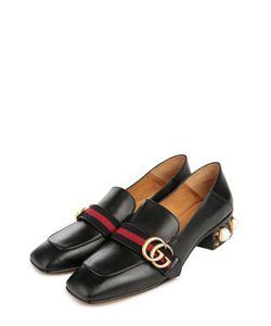 Gucci | Кожаные Лоферы С Декоративной Отделкой Каблука