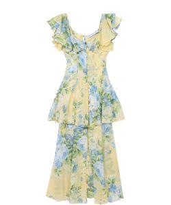 Alice McCall | Приталенное Платье С Оборками И Цветочным Принтом