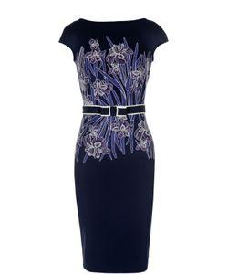 Tadashi Shoji | Платье-Футляр С Контрастным Принтом И Поясом