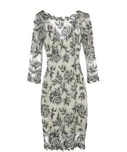 Tadashi Shoji | Приталенное Кружевное Платье С Круглым Вырезом