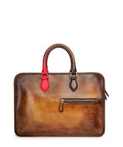 Berluti Bags | Кожаная Сумка Для Ноутбука С Ручным Нанесением Патинирования