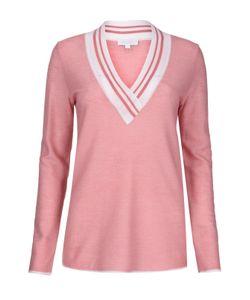 Escada Sport | Приталенный Пуловер С V-Образным Вырезом И Контрастной Отделкой