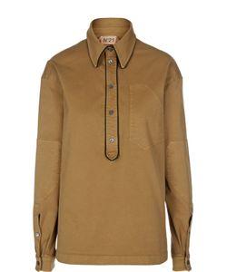 No. 21 | Блуза С Контрастной Отделкой И Нашивками