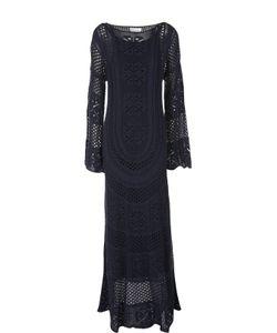 Chloe   Вязаное Платье В Пол С Расклешенными Рукавами Chloé