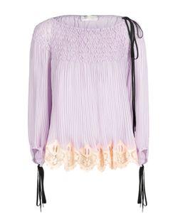 Chloe | Плиссированная Блуза С Вырезом-Лодочка И Шнуровкой Chloé