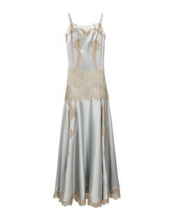 Dolce & Gabbana | Платье-Комбинация В Пол С Кружевной Вставкой