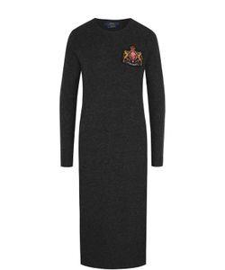 Polo Ralph Lauren | Платье-Миди Из Смеси Шерсти И Кашемира С Длинным Рукавом Polo Ralph