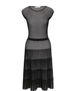 Hugo | Плиссированное Приталенное Платье Без Рукавов