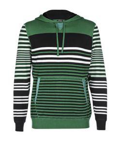 Kiton | Хлопковый Пуловер В Полоску С Карманом-Кенгуру