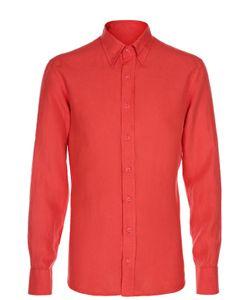 Andrea Campagna | Льняная Полуприталенная Рубашка