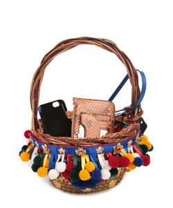 Dolce & Gabbana | Плетеная Сумка С Набором Аксессуаров