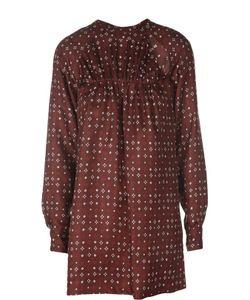 Isabel Marant | Шелковая Удлиненная Блуза С Контрастным Принтом