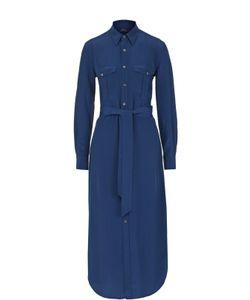Polo Ralph Lauren | Шелковое Платье-Рубашка С Поясом