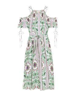 Tory Burch | Шелковое Платье С Цветочным Принтом И Поясом