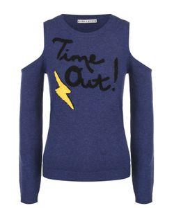 Alice + Olivia | Пуловер С Открытыми Плечами И Контрастной Отделкой