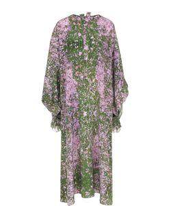Natasha Zinko | Шелковое Платье Свободного Кроя С Цветочным Принтом