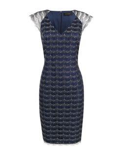 St. John | Приталенное Платье-Миди С V-Образным Вырезом