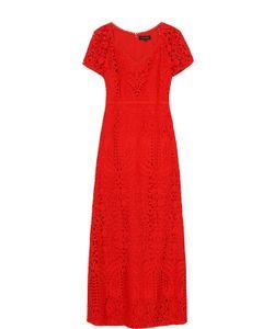 St. John | Кружевное Платье-Макси С V-Образным Вырезом