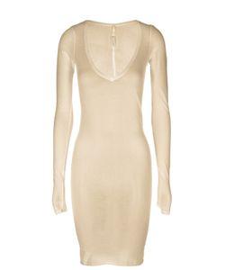 Isabel Benenato | Облегающее Полупрозрачное Платье С Глубоким Вырезом