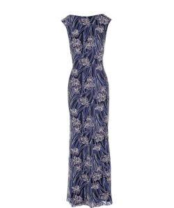 Tadashi Shoji | Приталенное Платье В Пол С Цветочной Вышивкой