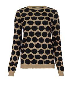 Marni | Пуловер В Горошек С Контрастной Полупрозрачной Спинкой